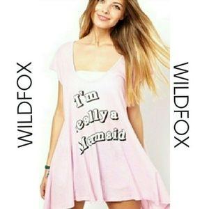 "*Wildfox ""I'm really a Mermaid"" tank/swim coverup*"